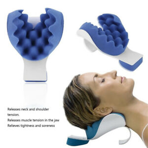 Neck Support Tension Reliever Neck Shoulder Relaxer Blue Sponge Releases Mus*wk
