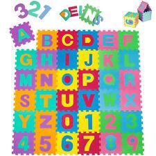 Tapis de jeu puzzle mousse souple alphabets & chiffres jeux educatif enfant baby