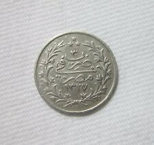 OTTOMAN EGYPT. SILVER 1 QIRSH, 1911. MUHAMMAD V, YEAR 3. SCARCE.