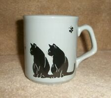 New listing black cats grey coffee mug cup, made in England