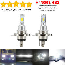 H4 9003 HB2 LED Headlight Bulbs Kit High Low Beam Super Bright 35W 6000K White