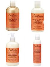 Shea Moisture Coconut & Hibiscus 4 ITEM SET-Shampoo, Conditioner, Milk & CoWash