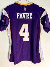 Reebok Women's Premier NFL Jersey Vikings Brett  Favre  Purple sz S