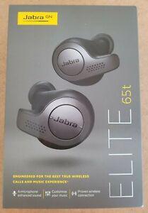 Jabra Elite 65t Wireless Bluetooth Headphones Earbuds - Titanium Black BNIB