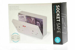 Secret Safe Stash Box Double Mains Socket Hidden Compartment Wall Safe