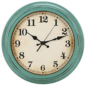 YUMTIM 12 Inch Vintage/Retro Wall Clock,Battery Operated Movement Silent Non for