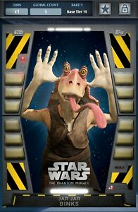 Topps Star Wars Card Trader 2020 Base S1 54321 Jar Jar Binks Blockade Digital