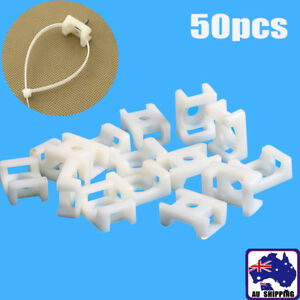 50Pcs Plastic Cable Mount Base Holder Fixing Cable Zip Tie Saddle TND000799x50