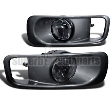 For 1999-2000 Honda Civic JDM Bumper Lamps Fog Lights+Switch Smoked Lens