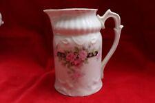 Ancien pot à lait porelaine, Louis Philippe, Décor de roses