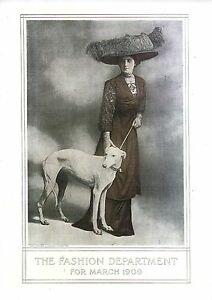 1909 Greyhound and Fashions from Ladies Home Journal