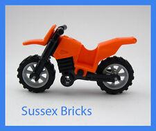 LEGO-Arancione Moto da Cross Moto Motocicletta Motocross-City-in buonissima condizione