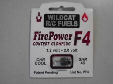 WILDCAT R/C FUELS FIREPOWER F4 GLOW PLUG   CHR COOL  /  1.2-2 .0 VOLT  / SHR 45