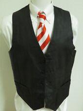 Sz L Black Solid Wilsons Brand Biker/Western MENS Leather #95X Suit Vest