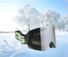 Brand Antifog Silver Night Dual Lens Spherical Adults Snowboard Ski Snow Goggles