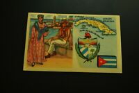 Vintage Cigarettes Card. CUBA. REGIONS OF THE WORLD COLLECTION