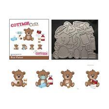 Get Well metal die Bear Patient Cottage Cutz cutting craft dies CC-387