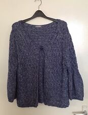 Per Una Blue Cardigan Jacket. Size Large.