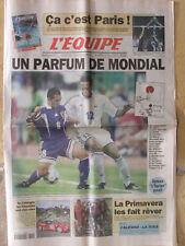 L'Equipe du 24/3/2001 - Paris Volley - Foot : avant France-Japon- La Primavera -