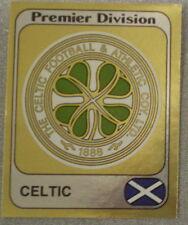 Glasgow Celtic FOIL Crest PANINI'S CALCIO 82 STICKERS Figurina PANINI No431