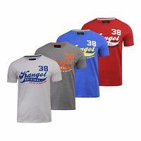 New Mens Kangol Cotton T-Shirt Short Sleeve Tee Crew Neck Top