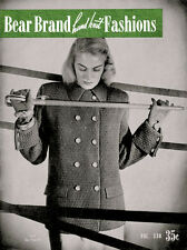 Bear Brand #330 c.1946 - Vintage Hand Knit Fashions Knitting Patterns for Women
