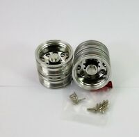 Alloy 10 spoke REAR wheels - duals to suit Tamiya Hercules 1:14 RC Semi Trailer