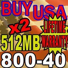 Gateway 700S 700SE 700X 1GB KIT LOT 2X 512MB RAM MEMORY