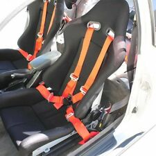 RED UNIVERSAL 4 POINT CAMLOCK QUICK RELEASE RACING SEAT BELT HARNESS 1 PAIR OF 2