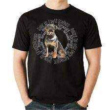 T-Shirt CIRCLE ROTTWEILER Watercolor by Siviwonder Unisex Hund Hundemotiv Rotti