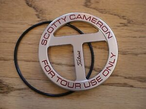 SCOTTY CAMERON TITLEIST CIRCLE T FOR TOUR USE ONLY PUTTER DISC BAG TAG NEW PGA