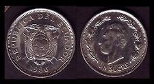 ★★ EQUATEUR / ECUADOR  ● 1 SUCRE 1986 ● E11 ★★