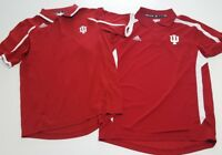 Indiana Hoosiers Women's Adidas Climalite red Stitched Polo Shirt S lot 2 new