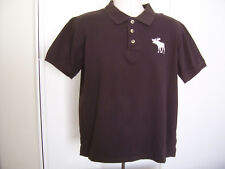 VTG Abercrombie & Fitch Retro Mens Polo Shirt Brown USA Made Size Large