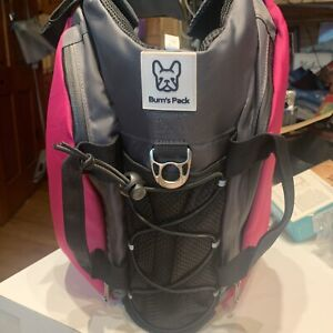 Bum's Pack Dog Back Pack Life Jacket med pink BRAND NEW with water bottle