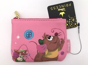 Loungefly Disney Princess Cinderella Mice Gus Gus Pink Sewing Coin Purse Wallet