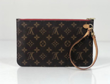 Louis Vuitton Monogram Neverfull GM Pouch Only with Red Interior Wristlet Clutch