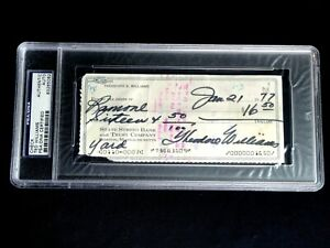 TED THEODORE WILLIAMS PSA/DNA CERTIFIED SIGNED 1977 CHECK AUTOGRAPH AUTO HOF