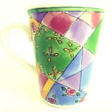 "Sango Lemon Meringue Mug 4.5"" by Sue Zipkin Sweet Shoppe #3023 Geometric Pattern"