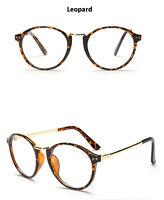 Spectacles Clear Lens Eyewear Metal Vintage Round Eyeglass Frame Glasses Retro