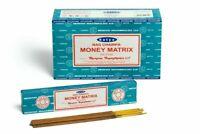 Satya Nag Champa Money Matrix  Incense Sticks 12 x15 grams =180 Grams USA SELLER