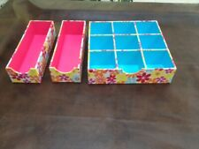 Multi-functional Storage Boxes. Drawer Desk Organizer for Jewelry, Craft, Cards.
