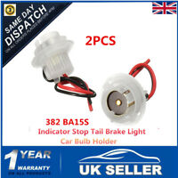2x 382 BA15S Car Bulb Holder Socket Connector Indicator Stop Tail Brake