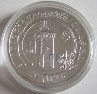 Polen 10 Zlotych 2007 750 Jahre Krakau Silber
