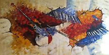 Abstract Musical Oil painting,100%  hand painted, Palette Knife Very Large