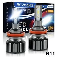 H11 LED Headlight Bulbs Lamp 6000K 50W Low Beam For Lexus CT IS C ES 2010-2016
