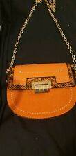 River Island Orange Cross Body small Bag with gold chain handle