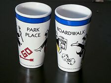 Park Place and Boardwalk Coffee Cups, Nostalgic Monopoly, Retro Pair