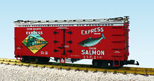 USA Trains G Scale R16323 EXPRESS SALMON - RED/SILVER