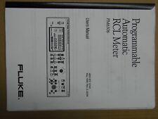 User's manual pour programmable automatic RCL meter Fluke PM 6306 (en anglais)